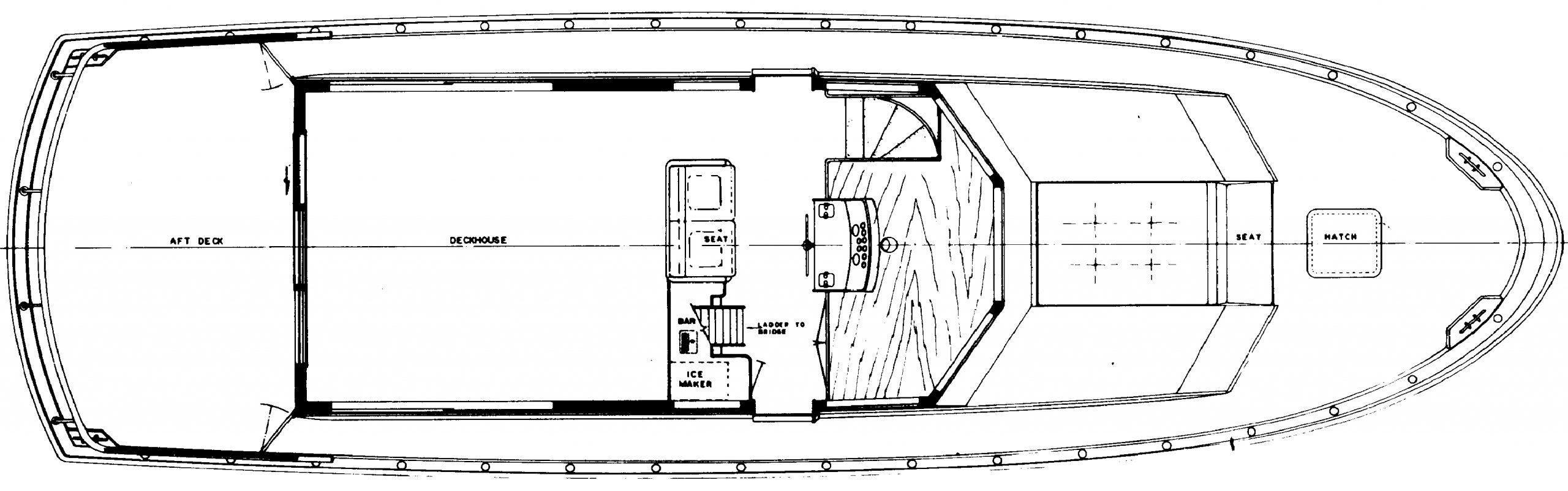 54 Motor Yacht Floor Plan 2