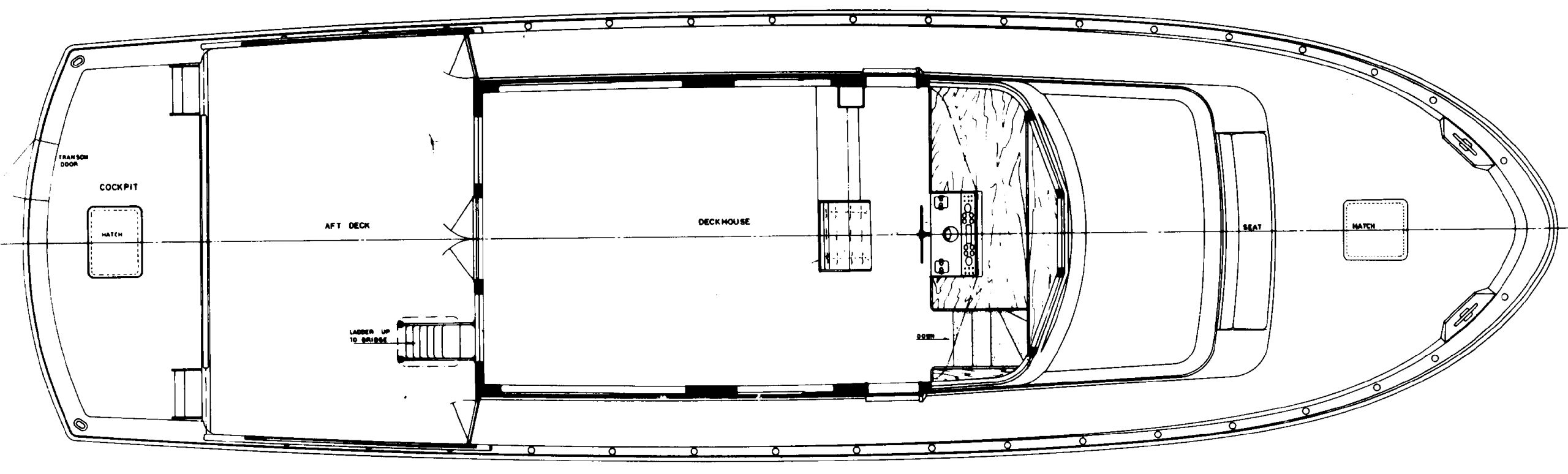 61 Cockpit Motor Yacht Floor Plan 2