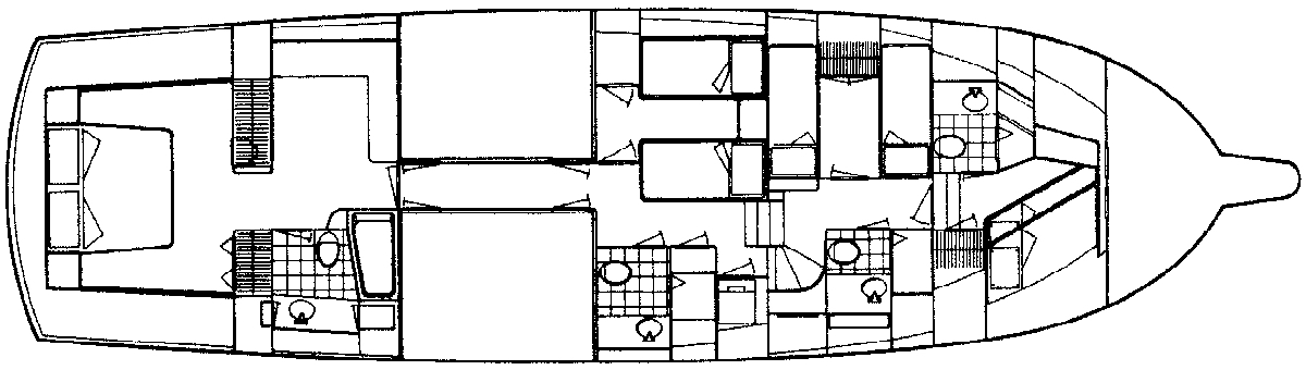 65 Motor Yacht Floor Plan 2