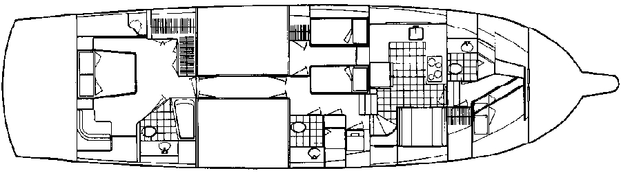 67 Cockpit Motor Yacht Floor Plan 2