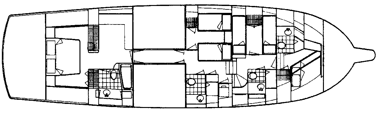 70 Cockpit Motor Yacht Floor Plan 2