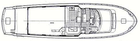 72 Cockpit Motor Yacht Floor Plan 2