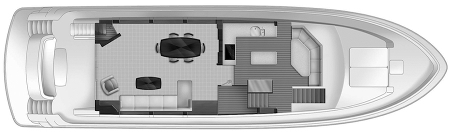 72 Motor Yacht Floor Plan 2