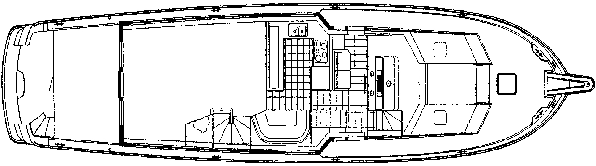 74 Cockpit Motor Yacht Floor Plan 2