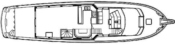 75 Cockpit Motor Yacht Floor Plan 2