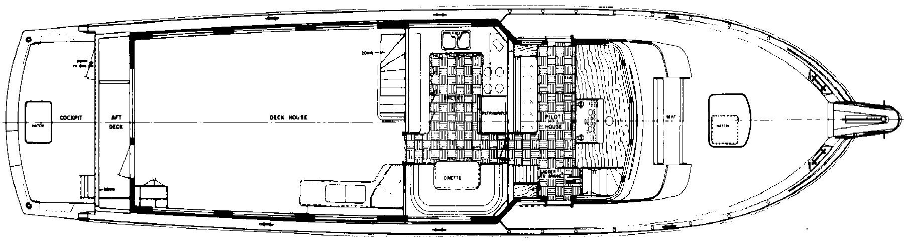77 Cockpit Motor Yacht Floor Plan 2