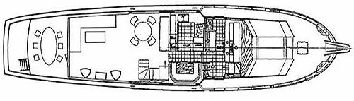 80 Cockpit Motor Yacht Floor Plan 2