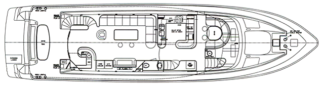 82 Motor Yacht Floor Plan 2