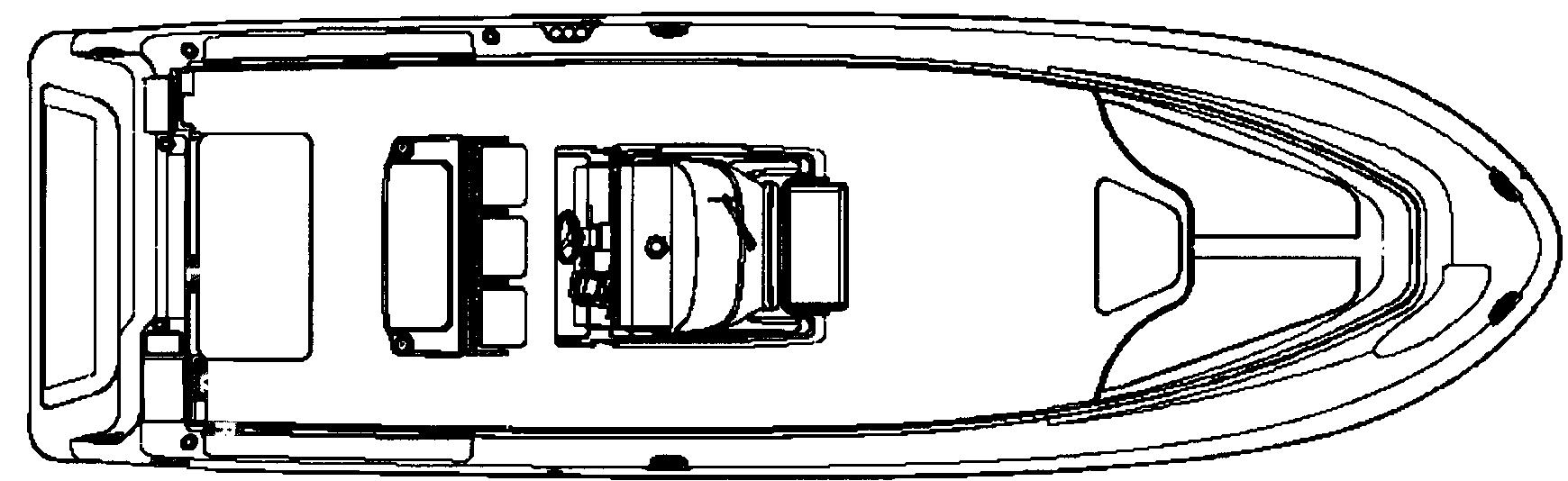 Vector 3300-3400 Center Console Floor Plan 1