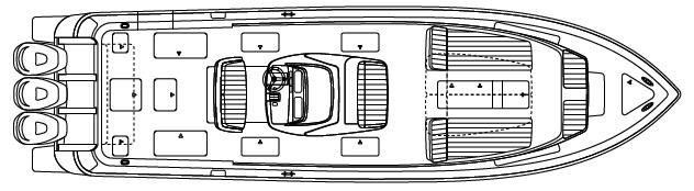 400 Center Console Floor Plan 1