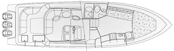 430 Sport Yacht Floor Plan 1