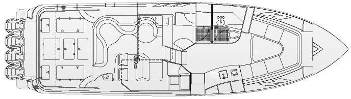 475 Sport Yacht Floor Plan 1