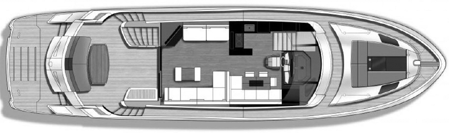660 Sport Yacht Floor Plan 2