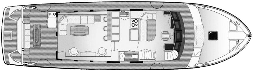 650 Motor Yacht Floor Plan 2