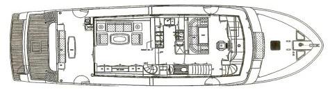 730 Motor Yacht Floor Plan 2