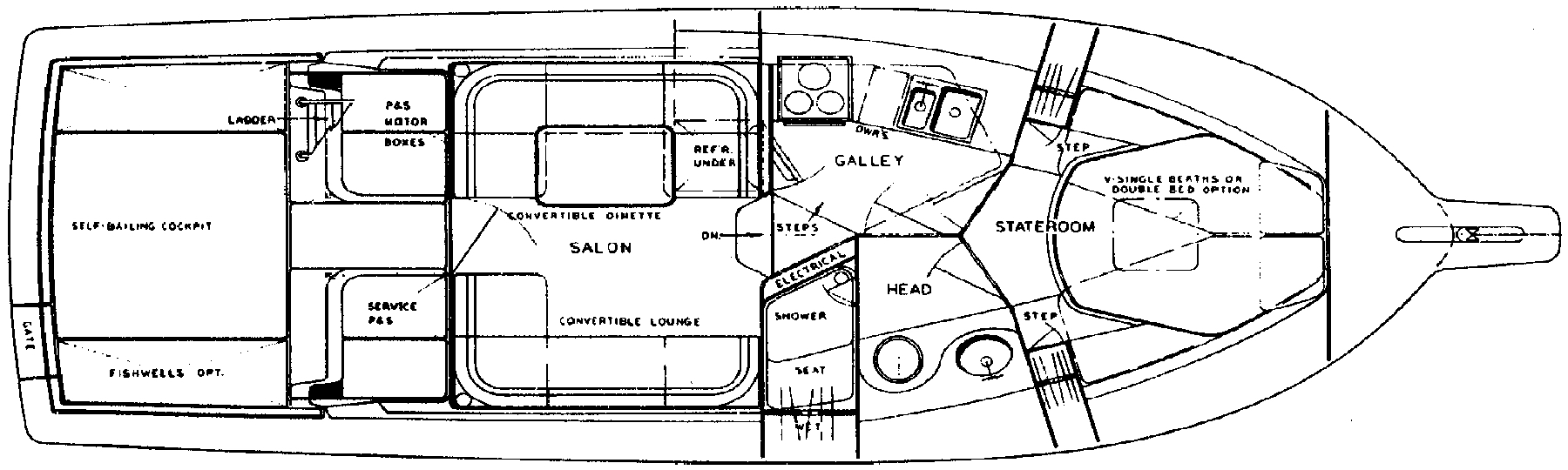 33 Convertible; 33-34 SFX Floor Plan 2