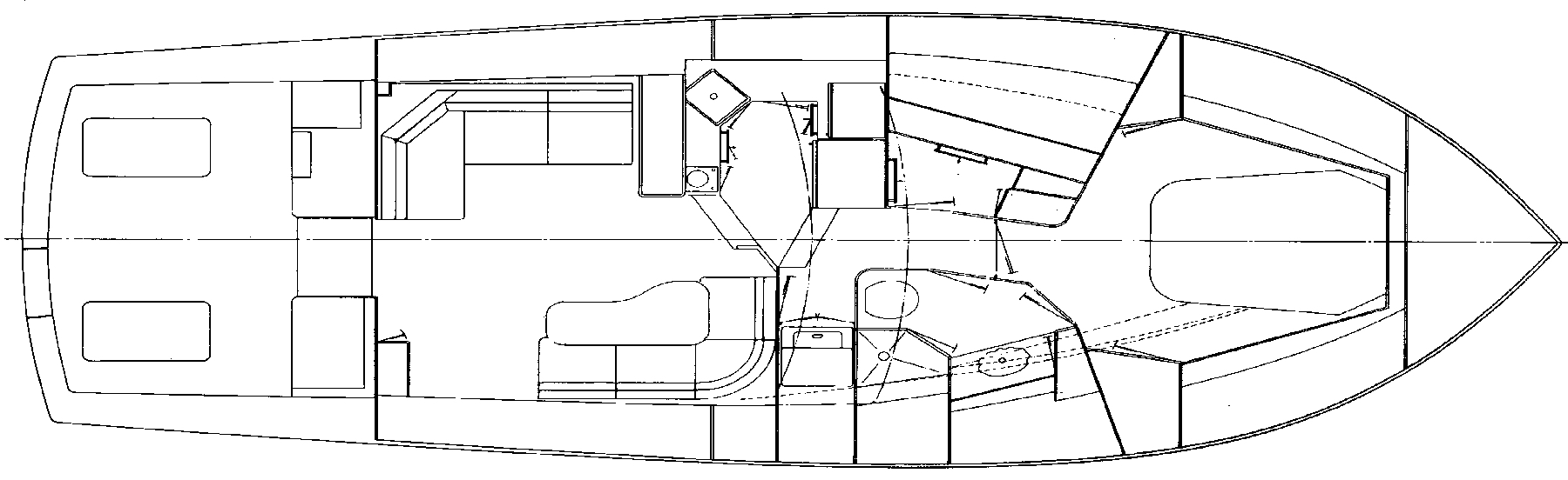 43 Sport Fisherman Floor Plan 1