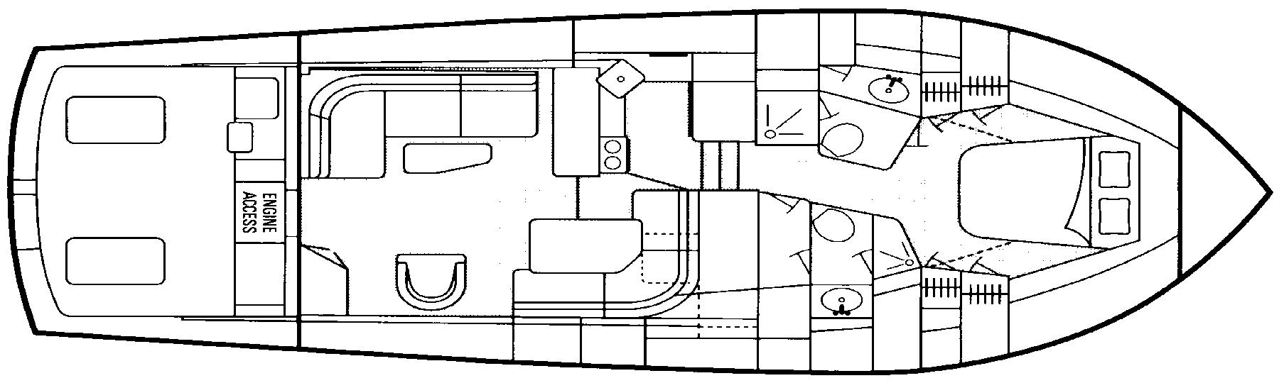 47 Sport Fisherman Floor Plan 2