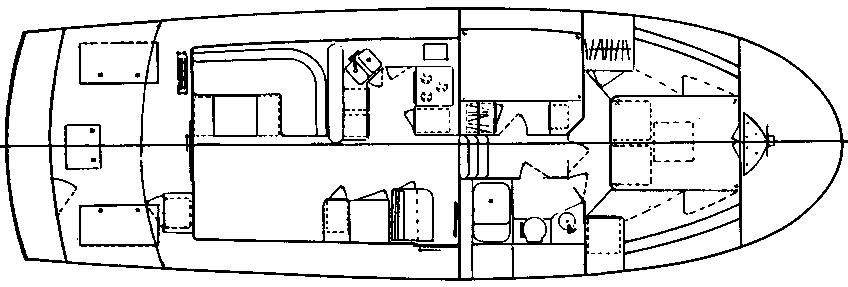 41 Sedan Trawler Floor Plan 1