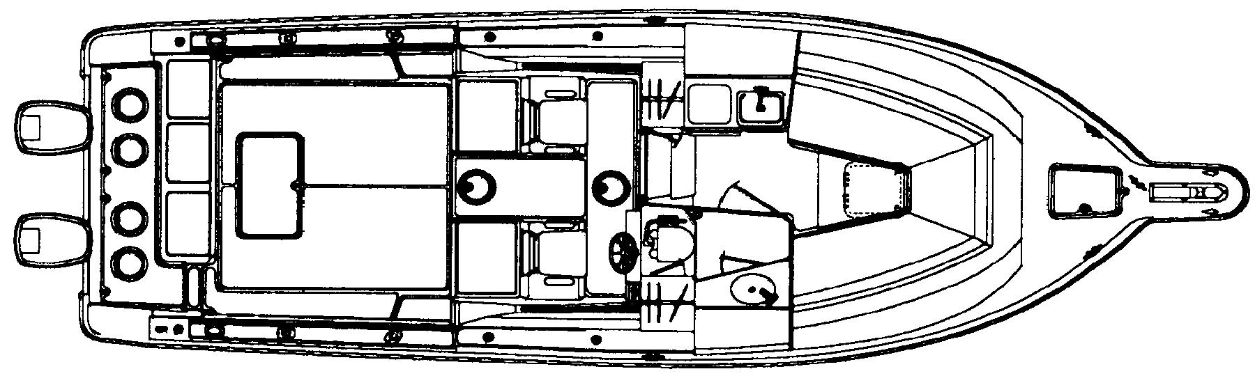2855 Express Fisherman Floor Plan 1