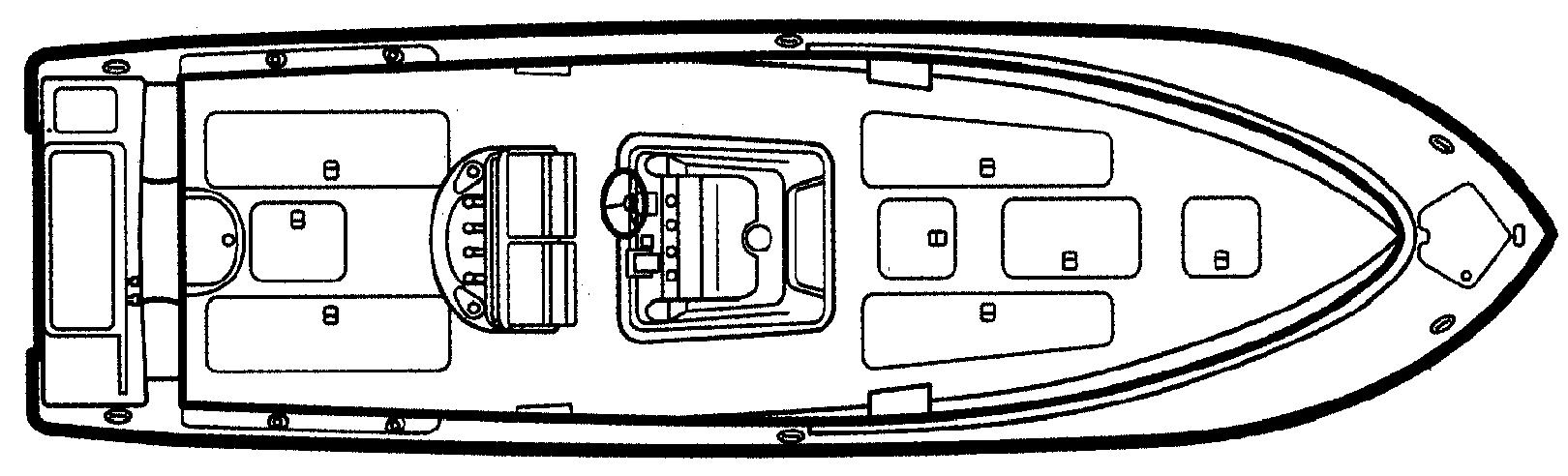 3480 Center Console; C 340 Floor Plan 1