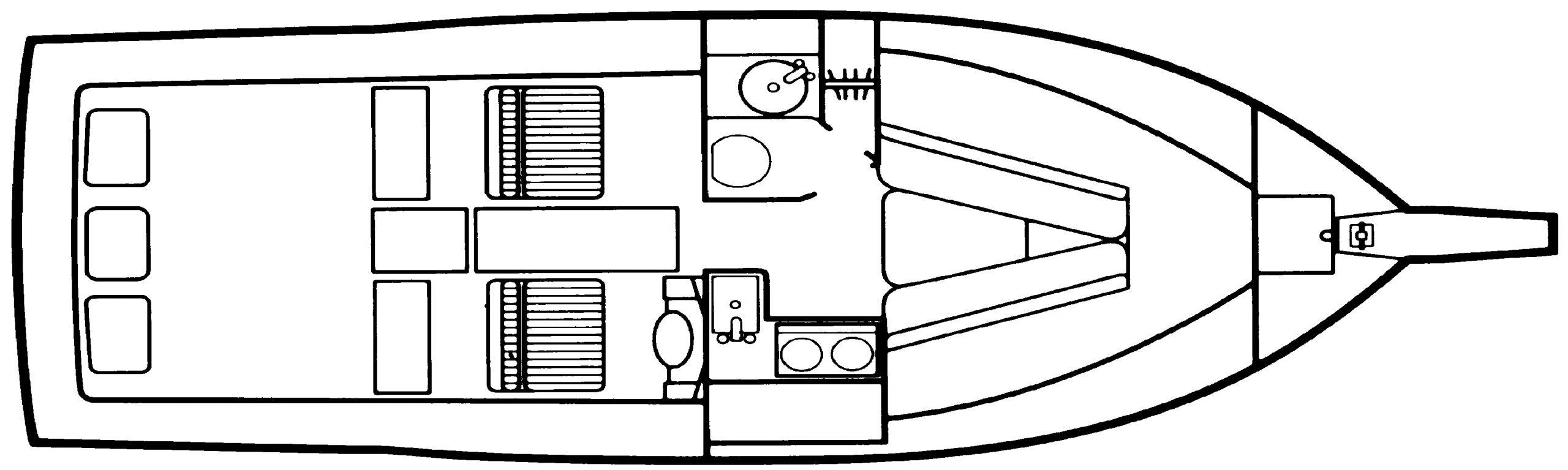28 Sportsman Floor Plan 1