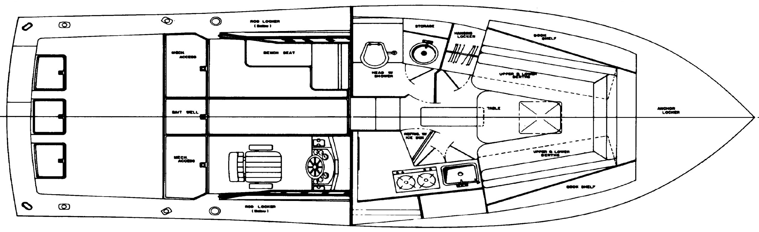 31 Sportfisherman Floor Plan 1