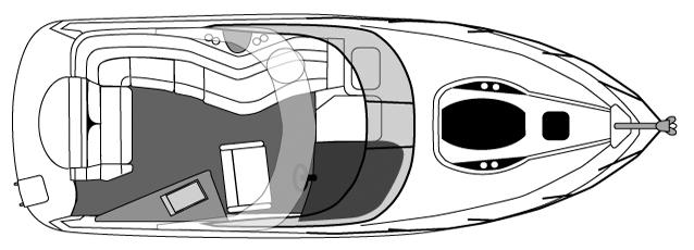 310 Express Cruiser Floor Plan 1