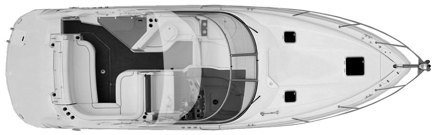 330-340 Express Cruiser Floor Plan 1