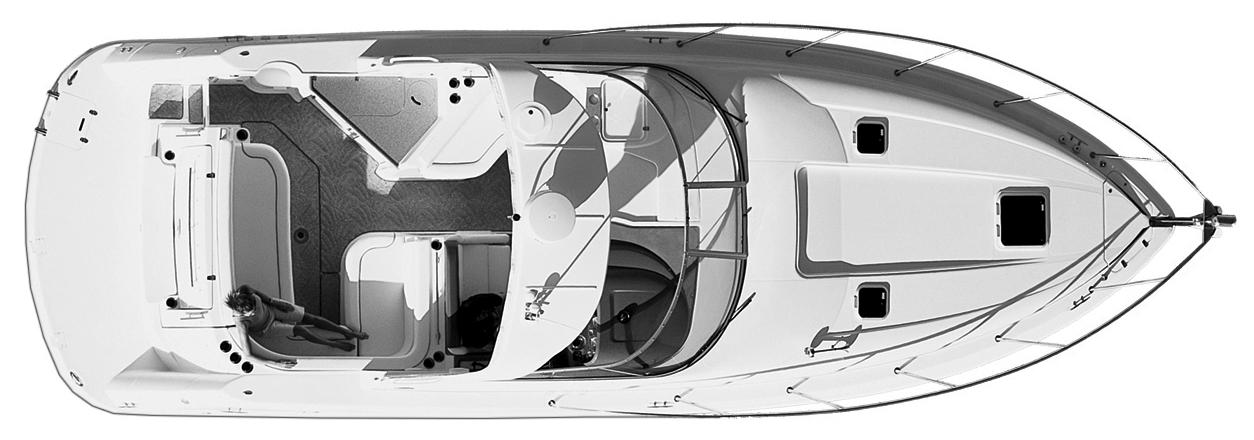 350-360 Express Cruiser Floor Plan 2