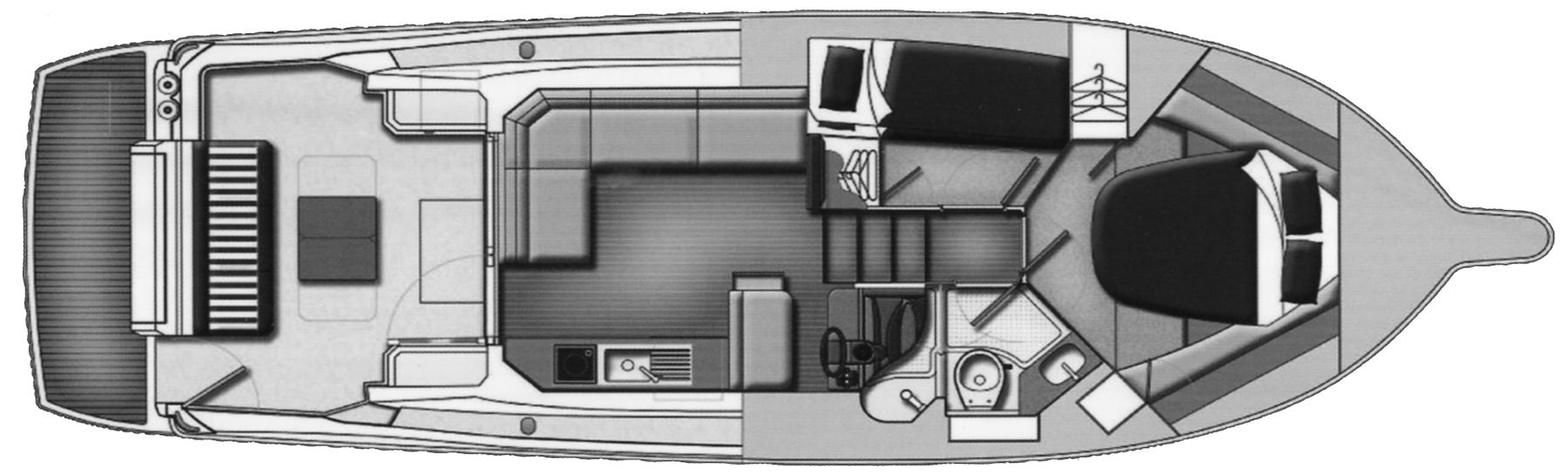 3600 Sport Yacht Floor Plan 1