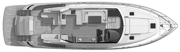 6000 Sport Yacht Floor Plan 2