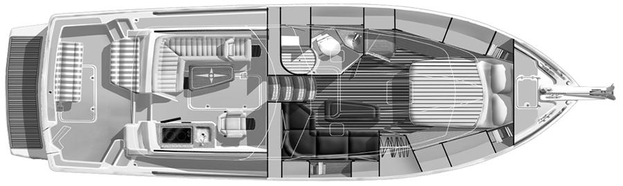 34 Hardtop Express Floor Plan 1