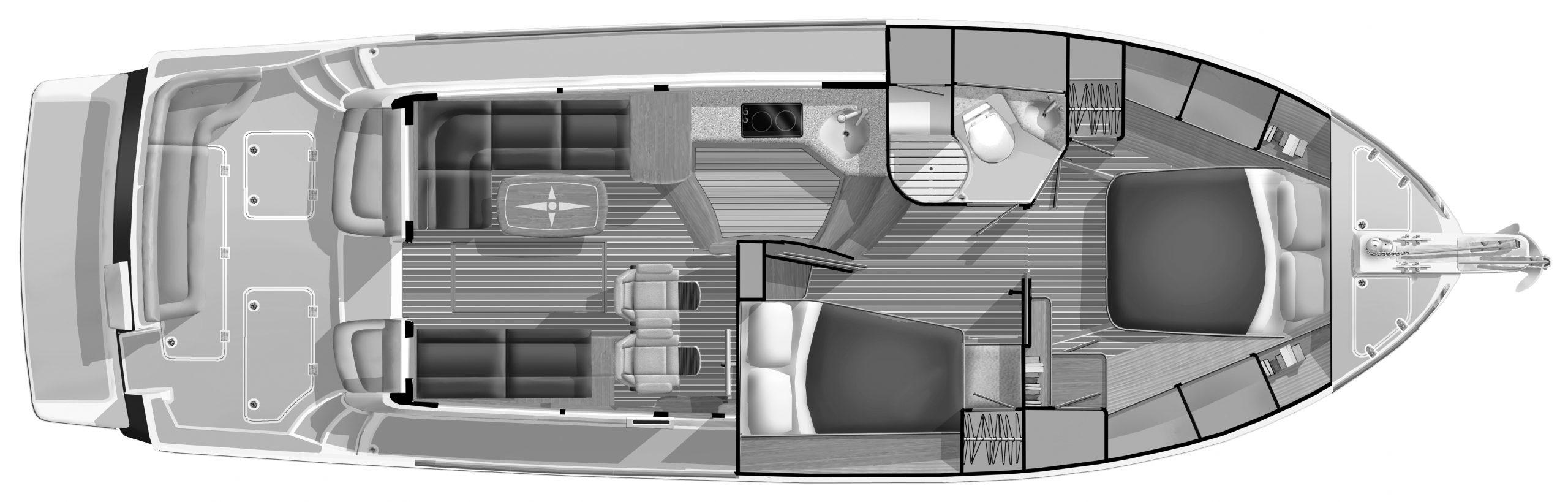 42 Flybridge Floor Plan 1