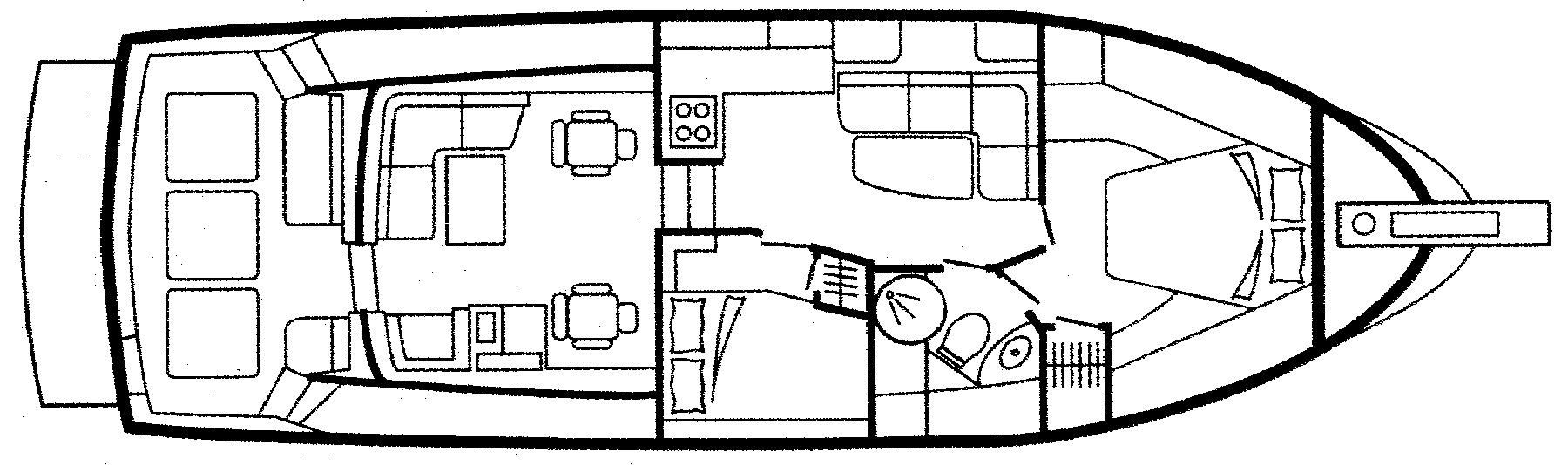42 Hardtop Express Floor Plan 1