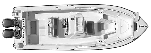 30-06; 3160-320 Center Console Floor Plan 1