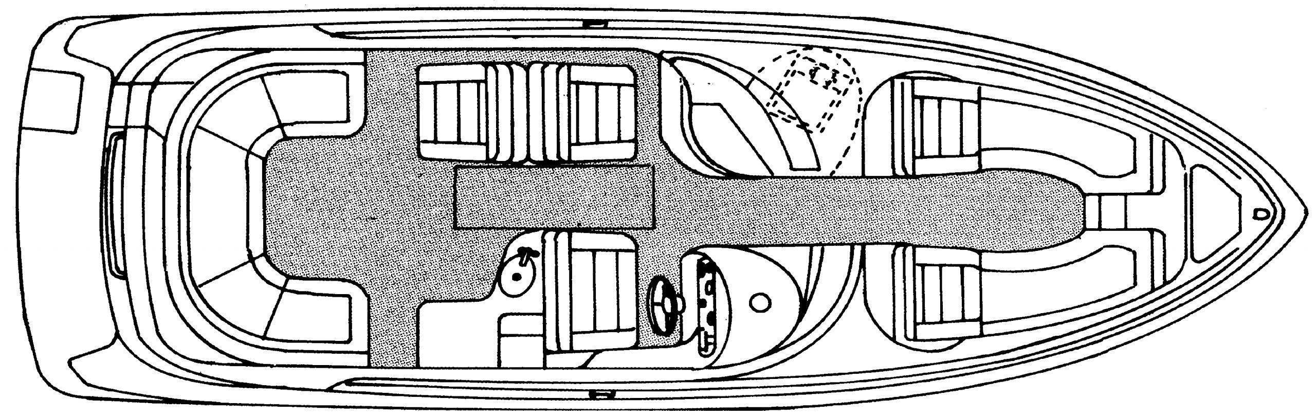 280 Bowrider Floor Plan 1