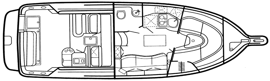 330 Express Cruiser Floor Plan 1