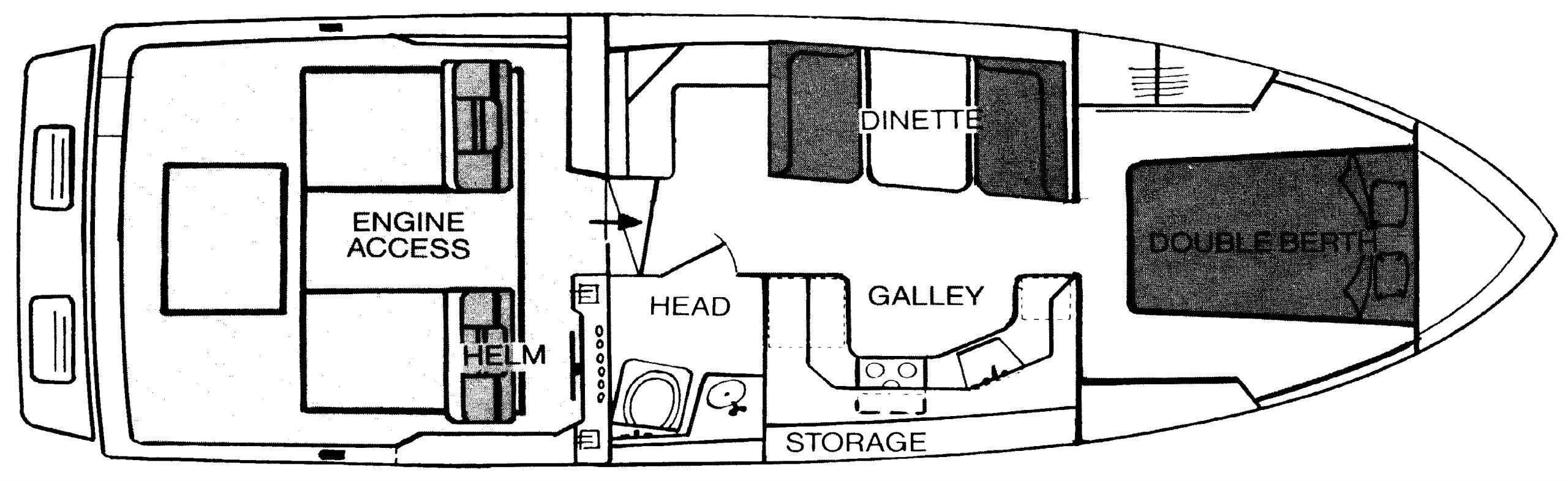 340 Sport Fisherman Floor Plan 2