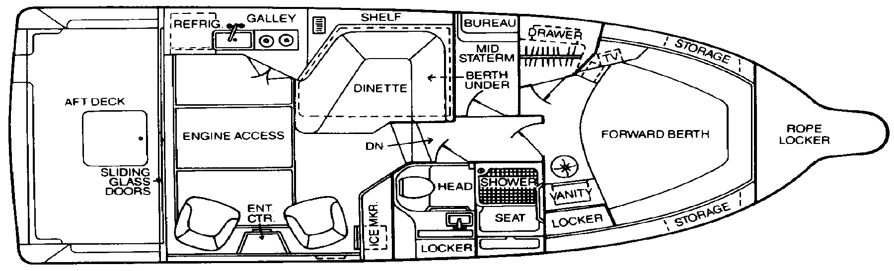 345-340 Sedan Bridge Floor Plan 1
