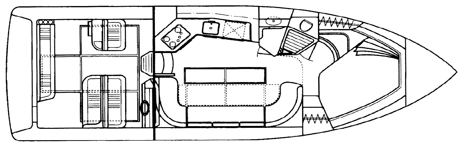 350-370 Express Cruiser Floor Plan 1