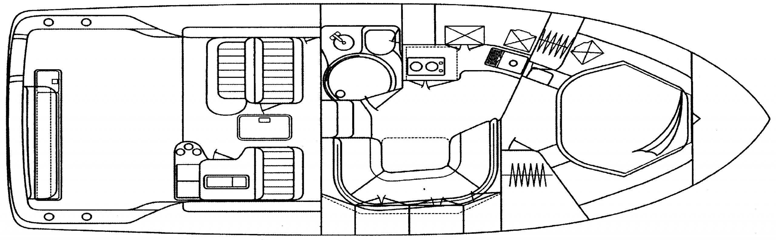 370 Express Cruiser Floor Plan 1