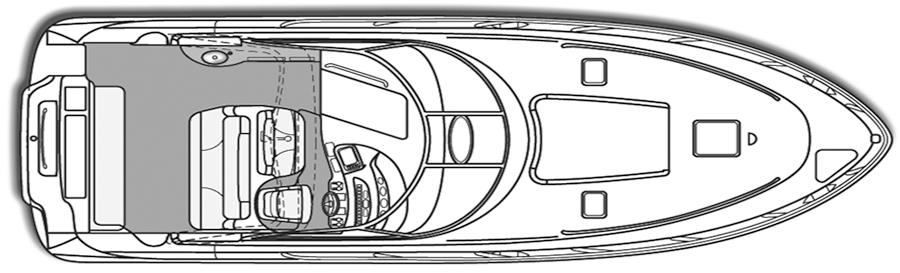 410 Express Cruiser Floor Plan 2