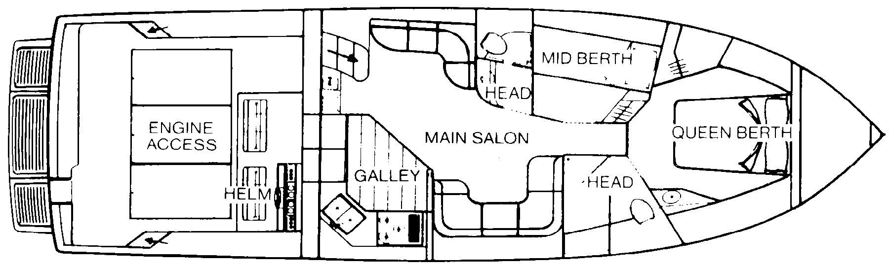 460 Express Cruiser Floor Plan 2