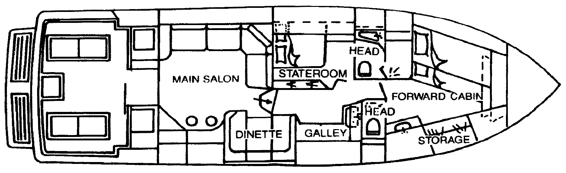 460 Sport Fisherman Floor Plan 1