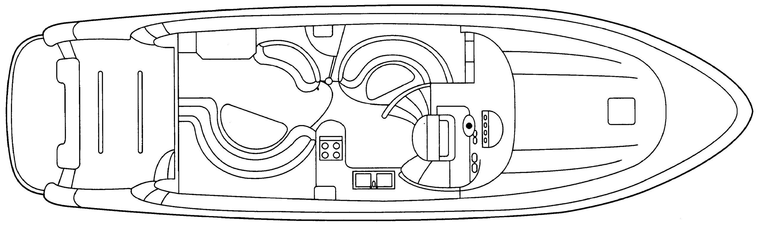 T51 Motor Yacht Floor Plan 2
