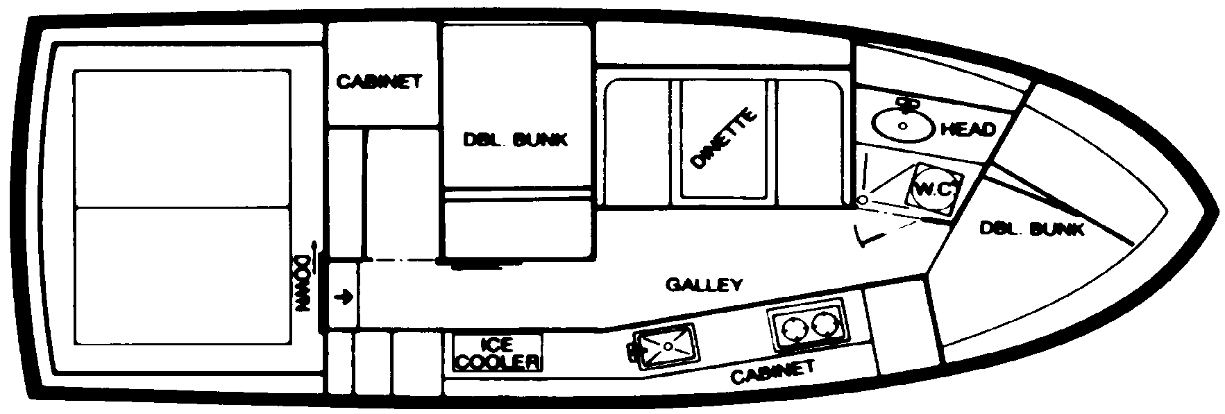29 Sport Cruiser Floor Plan 1