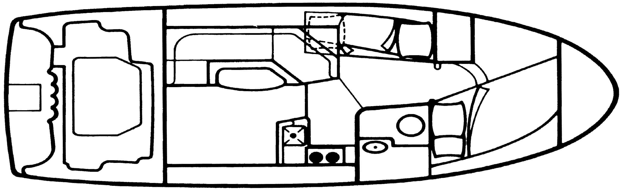 312 Sedan Cruiser Floor Plan 1