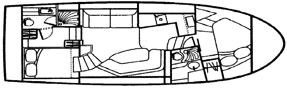 322 Motor Yacht Floor Plan 1