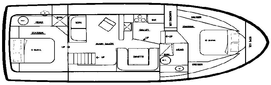 37 Motor Yacht Floor Plan 1